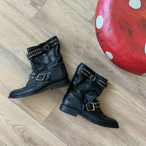 Frye Women's Studded Leather Combat Ankle Boots